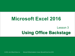Using Office Backstage Lesson 3