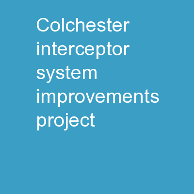 Colchester Interceptor System Improvements Project