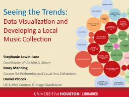 Seeing the Trends:  Data Visualization and Developing a Local Music Collection
