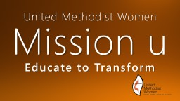 United Methodist Women Mission u