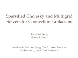 High Performance Linear System Solvers with Focus on Graph Laplacians