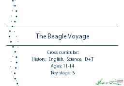 The Beagle Voyage Cross curricular: