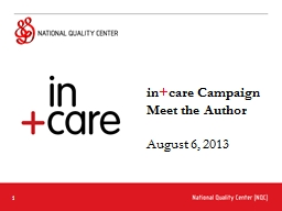 in   care Campaign Meet the Author