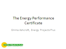 The Energy Performance Certificate