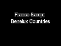 France & Benelux Countries