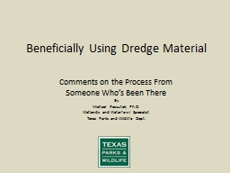 Beneficially Using Dredge Material