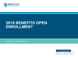 2018 Benefits open enrollment