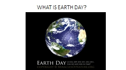 WHAT IS EARTH DAY? Loss of forest cover