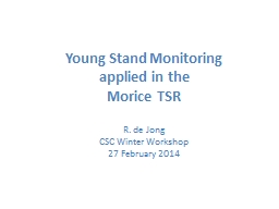 Young Stand Monitoring PowerPoint PPT Presentation