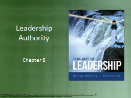 Leadership Authority Chapter 8