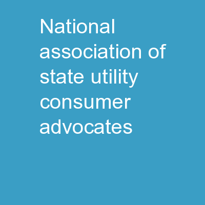National Association of State Utility Consumer Advocates