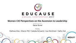Women CIO Perspectives on the Ascension to Leadership