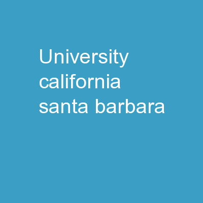 University California  Santa Barbara