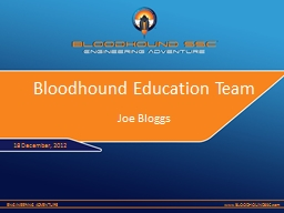 Bloodhound Education Team