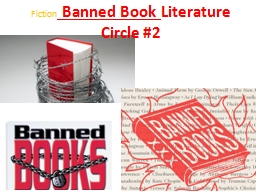 Fiction  Banned Book  Literature Circle #2