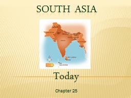 South Asia Today Chapter 25