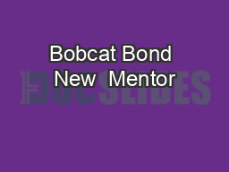 Bobcat Bond New  Mentor