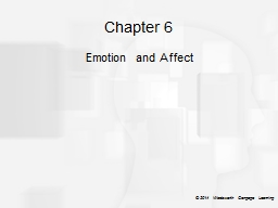Chapter 6 Emotion and Affect