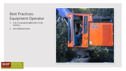 Best Practices: Equipment Operator