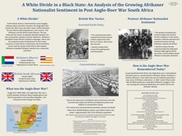 A White Divide in a Black State: An Analysis of the Growing Afrikaner Nationalist Sentiment in Post
