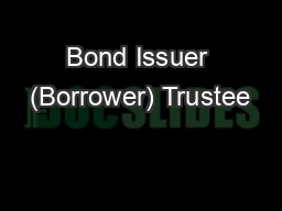 Bond Issuer (Borrower) Trustee
