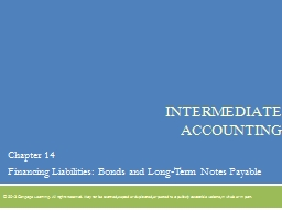 Intermediate Accounting Chapter 14