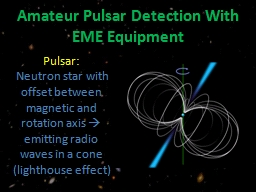 Amateur Pulsar Detection With EME Equipment