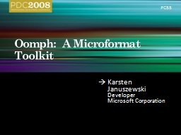 Oomph:  A Microformat Toolkit