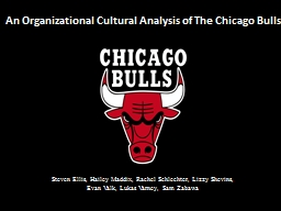 An Organizational Cultural Analysis of The Chicago Bulls
