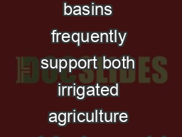 Abstract:  Dryland  river basins frequently support both irrigated agriculture and riparian vegetat