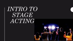Intro to Stage Acting Types of Stages and