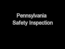 Pennsylvania Safety Inspection
