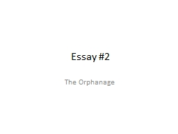 Essay #2 The Orphanage Definitions