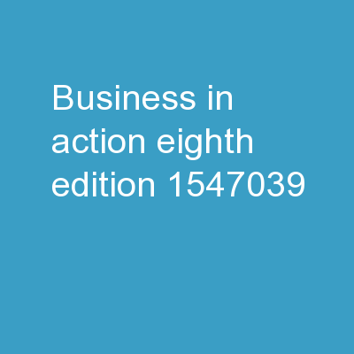 Business in Action Eighth Edition