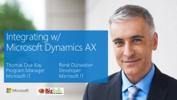 Integrating w/  Microsoft Dynamics AX PowerPoint PPT Presentation