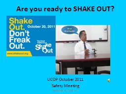 Are you ready to  SHAKE OUT