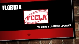 Florida      The ULTIMATE LEADERSHIP EXPERIENCE
