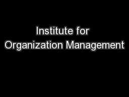 Institute for Organization Management