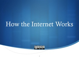 How the Internet Works 1