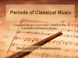 Periods of Classical Music