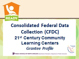 Consolidated Federal Data Collection (CFDC)