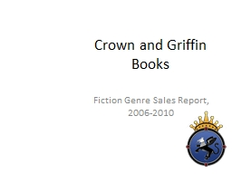 Crown and Griffin Books Fiction Genre Sales Report, 2006-2010