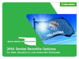 2018 Dental  Benefits Options PowerPoint PPT Presentation