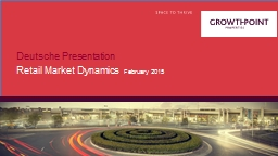 Deutsche Presentation Retail Market Dynamics