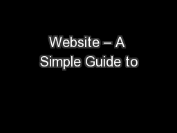 Website – A Simple Guide to