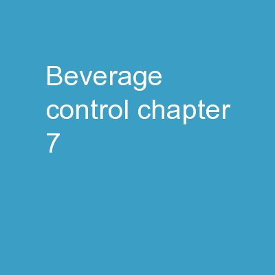 Beverage Control chapter 7