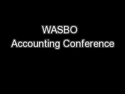 WASBO  Accounting Conference