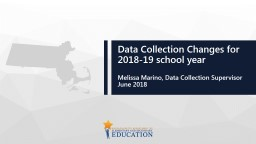 Data Collection Changes for 2018-19 school year