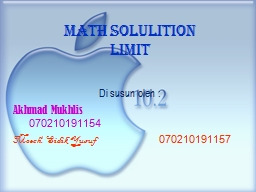 Math solulition  Limit Di