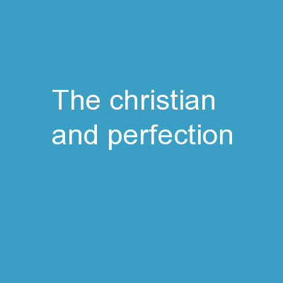 The Christian and Perfection